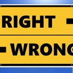 Ethics Against Alternative Medicine Sign - Right Wrong