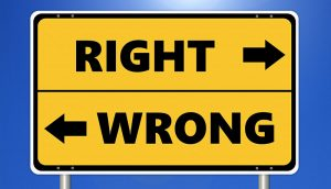Ethics gainst alternative therapies health medicine sign - Right Wrong